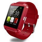 U8 Bluetooth Smart Watch w/ Camera Screen - Red + Black