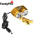 FandyFire XM-L T6 6-LED-4800lm Cool White 3-Mode Highlight-Fahrrad-Fahrrad-Licht - Golden (4 x 18650)