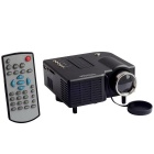 Relliance 400lm Mini Portable Multimedia Entertainment LED Projector w/ Speaker/Remote - Black