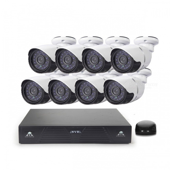 COTIER 8-CH NVR+8x960P H.264 P2P IP Camera - White