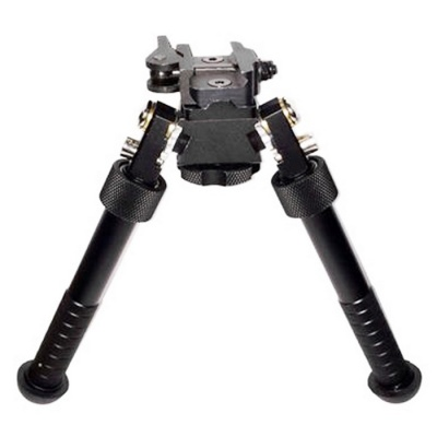 New Quick Release Spring Loaded Bipod Rifle Stand for 20mm Gun - Black