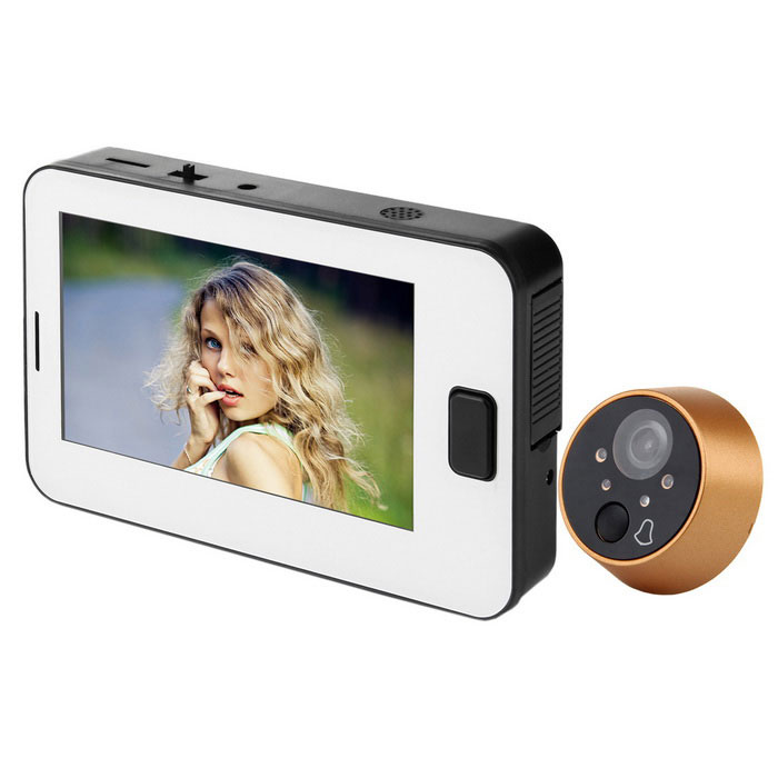 TFT LCD Night Vision Digital Doorbell Peephole Door Camera - White