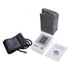 Blood Pressure Monitor & Heart Beat Rate Pulse Meter Measure - White