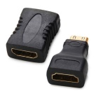 HDMI Male to HDMI Female + HDMI Female to Female Adapter for Game Consoles / HDTV - Black