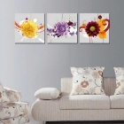 Bizhen Frame-free Painting Canvas Wall Decor Murals - Yellow (3PCS)