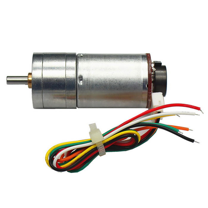 High Torque 25mm DC 12.0V 330rpm Encoder Precision Gear Motor