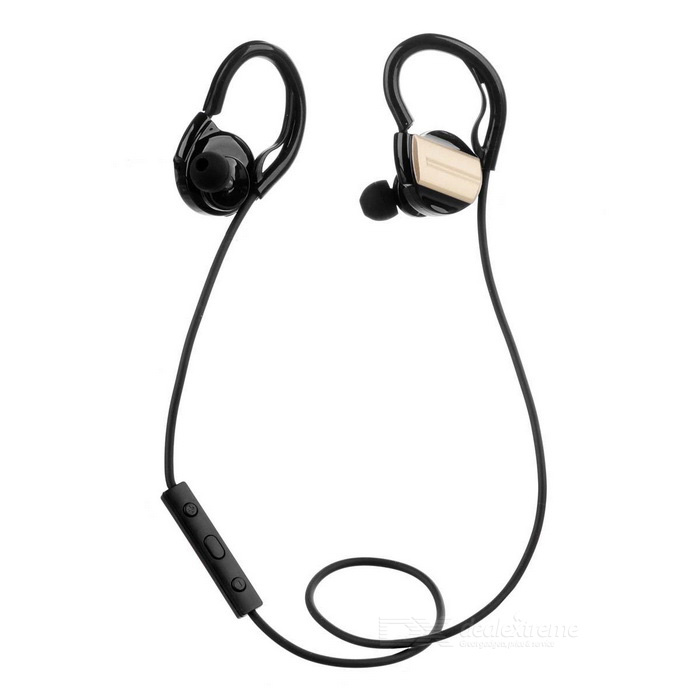 ZEALOT Wireless Bluetooth V4.0 Earhook Headset - Black + Champagne