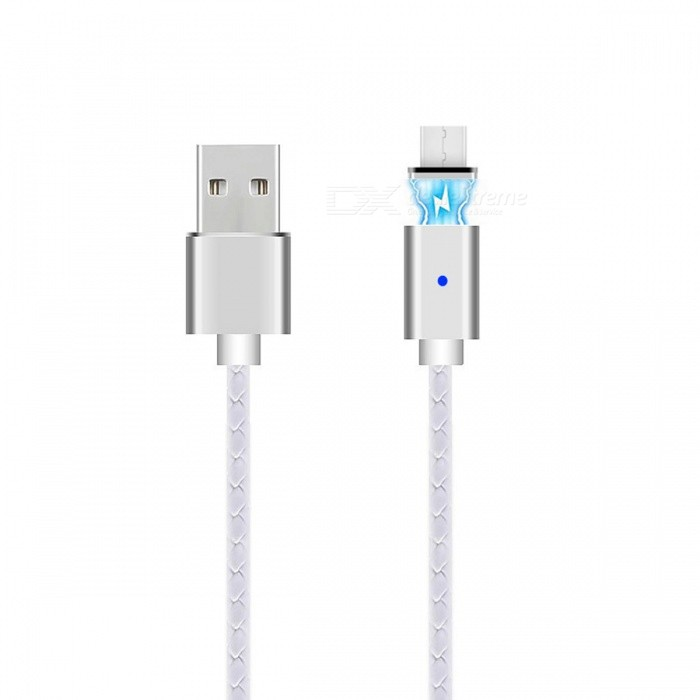 Cwxuan Magnetic Micro USB Charging Cable - White + Silver Grey (100cm)Cables<br>Form  ColorWhite + Silvery GreyMaterialAluminum alloy + PVCQuantity1 DX.PCM.Model.AttributeModel.UnitCompatible ModelsSmartphone and tablets with Micro USB interfaceCable Length100 DX.PCM.Model.AttributeModel.UnitConnectorMicro USB / USB2.0Packing List1 x USB cable1 x Magnetic micro USB<br>