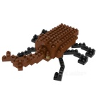 WLTOYS 6609 Unicorn Beetle Building Blocks Educational Toy for Children / Kids - Black + Deep Brown