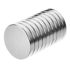 D18*3mm Round N35 NdFeB Neodymium Magnets Set - Silver (10PCS)