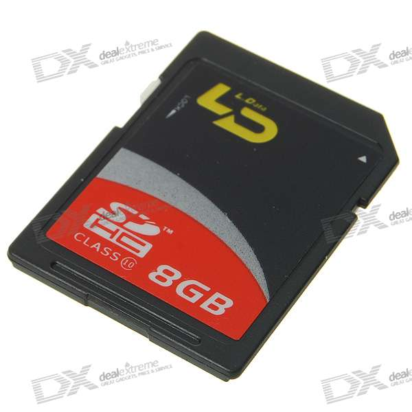 SD Memory Card - Black (8GB/Class 10)