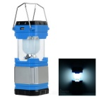 3W 45lm White Light Solar Powered USB Retractable Camping Lantern - Blue + Silver + Multicolor