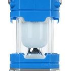 3W White Solar Power USB Retractable Camping Lantern - Blue + Silver