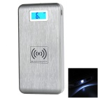 7000mAh Dual USB Wireless Charger Mobile Power Bank w/ Receiver - Silver +White