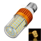 E27 12W LED Corn Bulb Lamp Light Warm White 3200K 638lm 126-SMD 2835 - Golden + Transparent (AC220V)