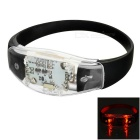 CTSmart Voice Control Red Light Flashing LED Outdoor Sport Cycling Safety Warning Bracelet Wristband