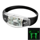 CTSmart control de voz Light Green Flash LED deporte al aire libre Ciclismo seguridad Advertencia pulsera de la pulsera