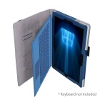 Protective PU Case w/ Stand for Microsoft Surface Pro 4 - Dark Blue