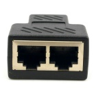 CY UT-004 Cat6 RJ45 8P8C to Dual RJ45 Splitter Network Adapter - Black