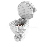 WLTOYS 6629 Closestool Building Blocks Educational Toy for Children / Kids - White + Coffee