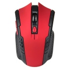 Mini 2.4Ghz Wireless 6 Keys 800-2000DPI Adjustable Optical Business Mouse - Red