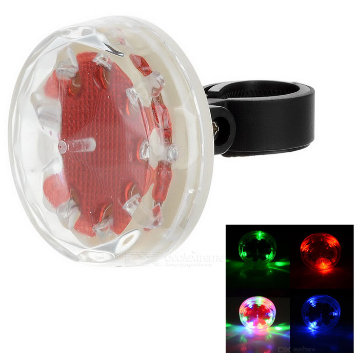9-LED 1-Mode Colorful Light Bike Safety Warning Tail Light Lamp - Red