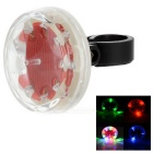 9-LED 1-Mode Colorful Light Bike Bicycle Safety Warning Tail Light Lamp - Red + Transparent