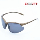 OSSAT PL-001 UV400 Protection PC Frame Polarized Lens Outdoor Sports Sunglasses - Black + Coffee