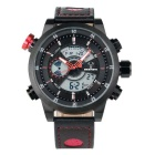 BESNEW BN-1503 Men's Multifunctional Waterproof Sport Analog + Digital Quartz Watch - Black + Red