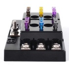 IZTOSS 6-Way Car ATC ATO Fuse Block Holder Box w/ Blade Fuses - Black