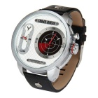 BESNEW BN-1512 LED Backlight Quartz Watch - Silver + White