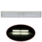 DIY Wall Mount Stick-on Portable 10-LED White Light Wireless IR Sensor Closet Light - Silver