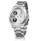 SKONE Men's Business Waterproof Alloy Band Mechanical Watch - White