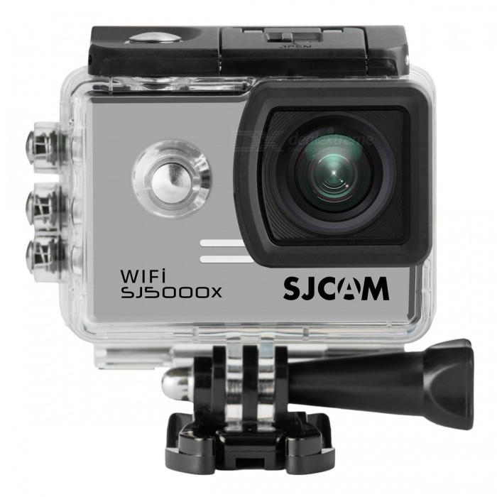SJCAM SJ5000X Sports Waterproof Action Camera w/ 2.0, Wi-Fi - SilverSport Cameras<br>Form  ColorBlack + SilverModelSJ5000XShade Of ColorSilverMaterialABS plasticsQuantity1 DX.PCM.Model.AttributeModel.UnitImage SensorCMOSImage Sensor SizeOthers,1/2.33Anti-ShakeYesFocal DistanceF= 2.8 DX.PCM.Model.AttributeModel.UnitFocusing RangeF= 2.8Optical ZoomNoDigital ZoomOthers,2X,4X,8XBuilt-in SpeedliteNoSpeedlite RangeNoApertureNoAperture RangeNoWide Angle170, 140, 110 and 70degree A + high-definition wide-angle lensEffective Pixels12MegaMax. Pixels12Mega Pixels(4032*3024) DX.PCM.Model.AttributeModel.UnitImagesJPGStill Image Resolution12Mega Pixels(4032*3024)<br>10Mega Pixels(3648*2736)<br>8Mega Pixels(3264*2448)<br>5Mega Pixels(2592*1944)<br>3Mega Pixels(2048*1536)<br>2MHD(1920*1080<br>VAG640*480<br>1.3M1280*960VideoMP4Video Resolution4K 2880*2160 24fps, 2K 2560*144030fps, WVGA@240fps, 1080P (1920*1080)60fps, 720P(1280*720)120fpsVideo Frame Rate30,60,120,Others,240fps.24fpsAudio SystemMonophonyCycle RecordYesISOOthers,Auto, 100, 200, 400, 800, 1600Exposure Compensation-2;-1.7;-1.3;-1;-0.7;-0.3;0;+0.3;+0.7;+1;+1.3;+1.7;+2.0Scene ModeAutoWhite Balance ModeOthers,AutoSupports Card TypeTFSupports Max. Capacity32 DX.PCM.Model.AttributeModel.UnitBuilt-in Memory / RAMNoInput InterfaceMicOutput InterfaceMicro USB,Mini HDMILCD ScreenYesScreen TypeTFTScreen Size2.0 DX.PCM.Model.AttributeModel.UnitScreen Resolution960*240Battery Measured Capacity 900 DX.PCM.Model.AttributeModel.UnitNominal Capacity900 DX.PCM.Model.AttributeModel.UnitBattery TypeLi-polymer batteryBattery included or notYesBattery Quantity1 DX.PCM.Model.AttributeModel.UnitVoltage3.7 DX.PCM.Model.AttributeModel.UnitBattery Charging Time3~4 hoursWater ResistantWater Resistant 3 ATM or 30 m. Suitable for everyday use. Splash/rain resistant. Not suitable for showering, bathing, swimming, snorkelling, water related work and fishing.Supported LanguagesEnglish,Simplified Chinese,Traditional Chinese,Russian,French,GermanCertificationCE FCCPacking List1 x SJ5000X Sports Camera1 x Waterproof Housing1 x Handlebar Seatpost Pole Mount1 x Curved Adhesive Mount1 x Flat Adhesive Mount1 x 3-Way Pivot Arm Mount1 x Frame Mount1 x Tripod Mount Adapter1 x Bandage Set1 x Stainless Steel Safety Tether1 x USB Cable(80cm)1 x 900mAh Li-ion Battery1 x English Manual<br>