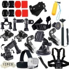 42-in-1 Sports Camera Accessories Kit for GoPro Hero / SJ4000 / SJ5000 / SJCam / Xiaoyi - Black