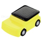 DIY 0.15W Solar Powered Mini Educational Toy Cute Car - Yellow + Orange