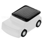 DIY 0.15W Solar Powered Mini Educational Toy Cute Car - White + Orange
