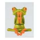 XQW-28 3D Frog Style PVC Car Decorative Decal Sticker