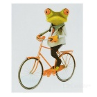 XQW-41 3D Frog Style PVC Car Decorative Decal Sticker