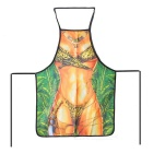 Sexy Girl Pattern Polyester Apron - Green + Yellow + Multicolor