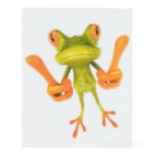 XQW-26 3D Frog Style PVC Car Decorative Decal Sticker