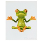 XQW-01 3D Frog Style PVC Car Decorative Decal Sticker