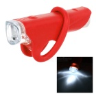 Outdoor Cycling 2-Mode LED Bike Silicone Headlamp Flashlight Neutral White - Red (1 x AA)