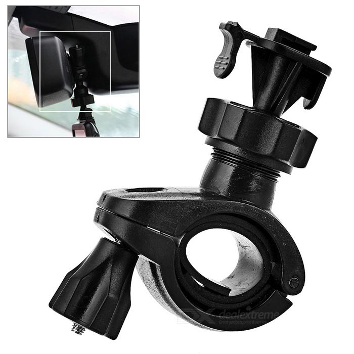 Bike Handlebar / Rearview Mirror Mount Holder Clamp for DVR - BlackBike Holder<br>Form  ColorBlackQuantity1 DX.PCM.Model.AttributeModel.UnitMaterialPlasticBest UseCycling,Mountain Cycling,Recreational Cycling,Road Cycling,Triathlon,Bike commuting &amp; touringTypeOthers,Sports camera / rearview mirror holderPacking List1 x Bike holder<br>