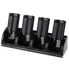 """2800mAh"" Batteries + 4-Slot Charging Dock w/ Blue Indicator Light Set for Wii U - Black"