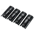 2500mAh Battery + 4-Slot Charging Dock w/ Indicator for Wii U - Black