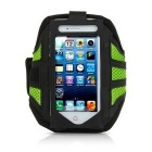 Mesh Cloth Sports Armband Case / Arm Bag for IPHONE 6 PLUS - Black + Green