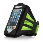 Cloth Sports Armband Case / Arm Bag for IPHONE 6 PLUS - Black + Green