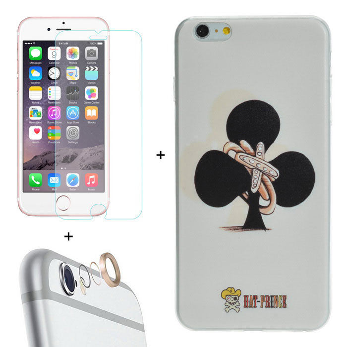 Hat-Prince Lens Cover + Guard + Case for IPHONE 6 PLUS - White + Black