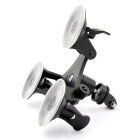 "8"" 3-Suction Car Cup Mount Holder for GoPro Hero 4 3+, Xiaoyi, SJ4000"